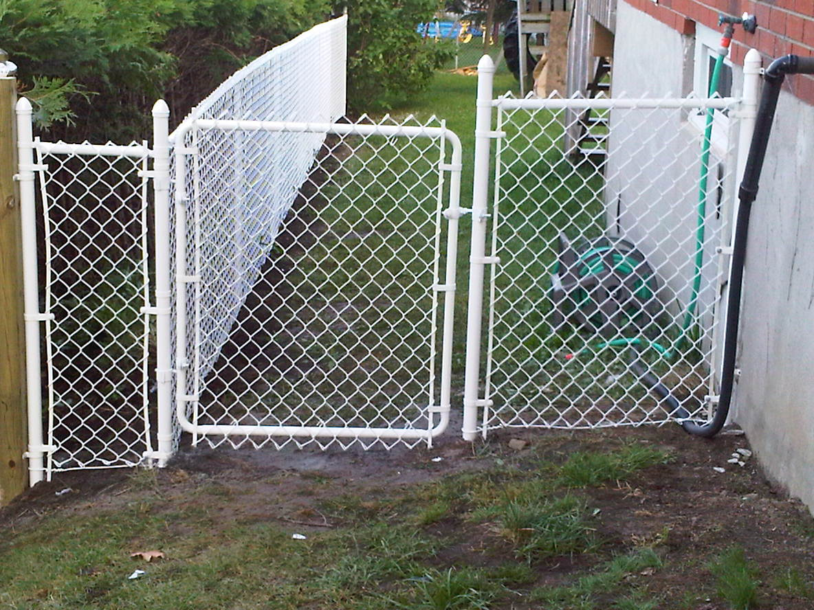 Residential chain link fences