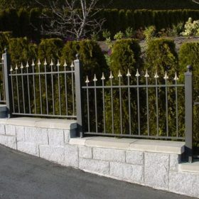 staggered home security fence