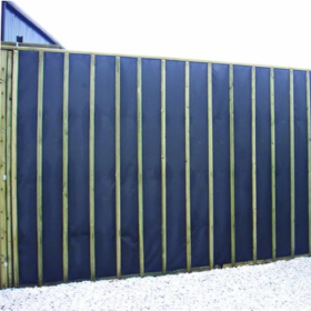 acoustic fencing how to reduce road or neighbor noise. Black Bedroom Furniture Sets. Home Design Ideas
