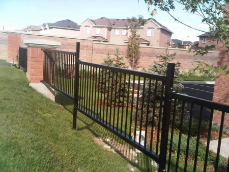 Commercial Iron Fence by Jay Fencing