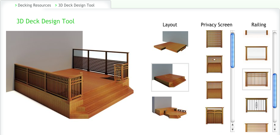 custom deck design tool delta