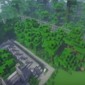 Minecraft Fence Jurassic park fence aerial