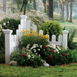 garden accent picket fence