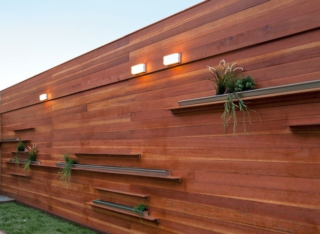 Ultra Modern Wooden Fence Design