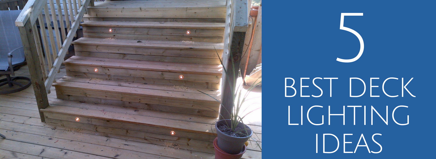 5 Best Deck Lighting Ideas Jay Fencing